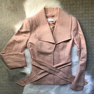 Zara ~ pink jacket with unique lapels